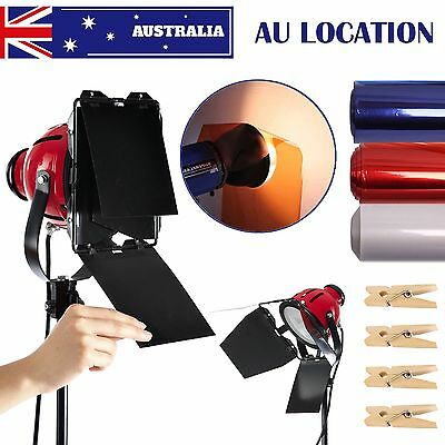 AU STOCK 800W Redhead Continuous Lighting Video Red Head Light W/ Filter,Bulb