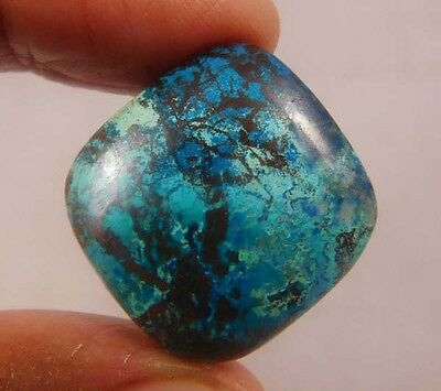 24 Cts. 100% Natural Fantastic Oval Indian Azurite Loose Cabochon Gemstone AH238