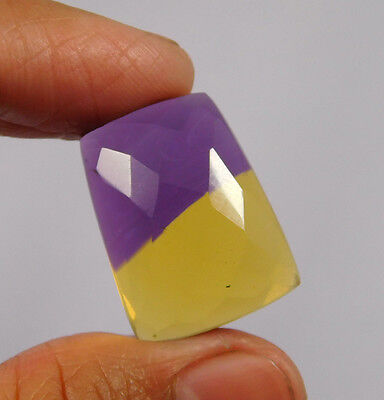 25 Cts. Treated Faceted Ametrine Cut Loose Cabochon Gemstone (NH977)