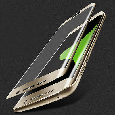 100% Full Tempered Glass Film Screen Protector for Samsung Galaxy S7 Edge Gold