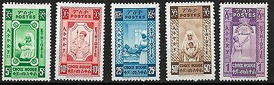 1936 Ethiopia Red Cross Stamp Set