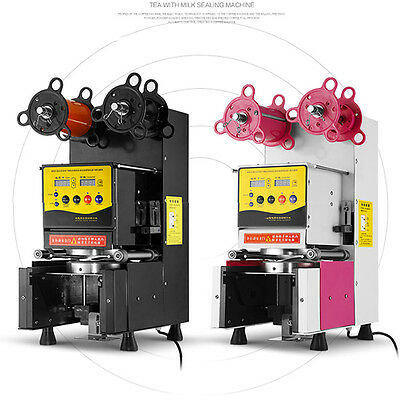 RC95F 380W Fully Automatic Cup Sealing Machine Coffee Bubble Boba Tea Milk
