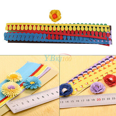 1 Bag Flower Quilling Paper Strips Mixed Colors Origami DIY Paper Hand Craft Set