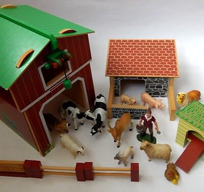 Elc Early Learning Centre Wooden Farm And Plastic Farm Animals