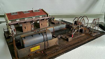 Small handmade depot. Center  diorama suit HO OO gauge by R&M