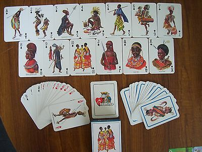 """Rare """"tribu Africane"""" Deck Of Unique Poker Size Playing Cards.(Unused=Mint)"""