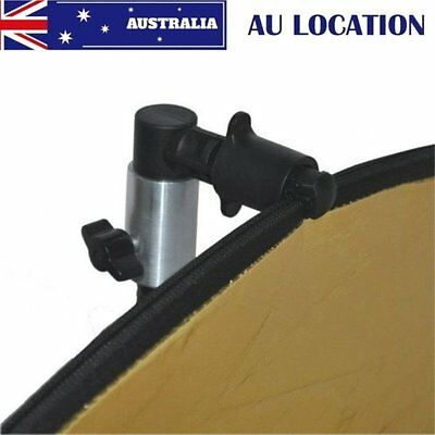 AU STOCK Photo Video Photography Studio Reflector Disc Holder Clip Clamp Black