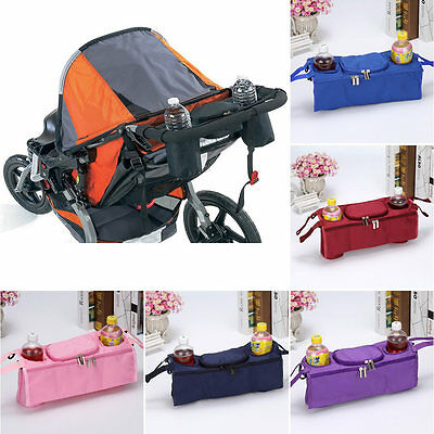 Baby Pram Stroller Buggy Pushchair Storage Bag Bottle Cup Holder Organizer Tray