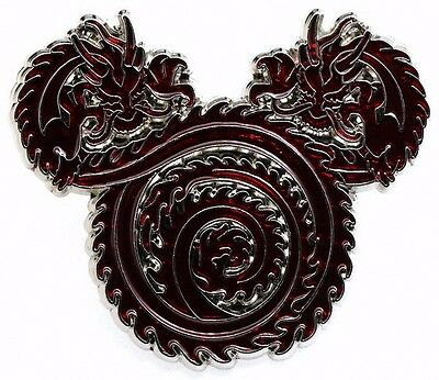 2016 Disney SHDR Chinese Red Dragon in Mickey Head Pin Rare