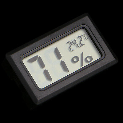 Pro Mini Indoor Digital LCD Temperature Humidity Meter Thermometer Hygrometer