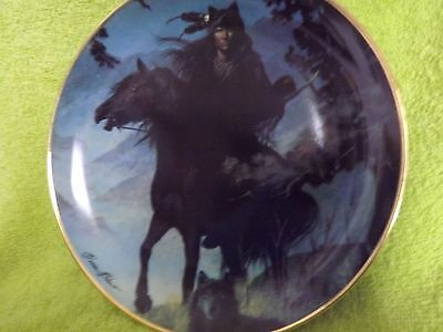 Fine Porcelain Franklin Mint Native American Plate - SPIRIT OF THE NIGHT + Cert