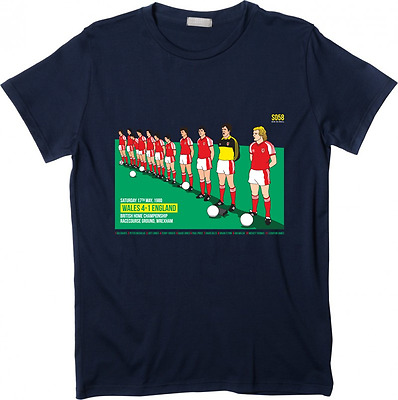 Wales football Spirit of 58 Wales 4 England 1 1980 BNWT Medium NAVY