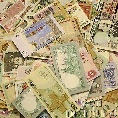 BANKNOTES BY THE GRAM - Randomly Selected World Paper Money Notes - GREAT GIFT