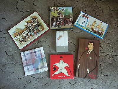 Seven Vintage Boxes/packs Men's Handkerchiefs