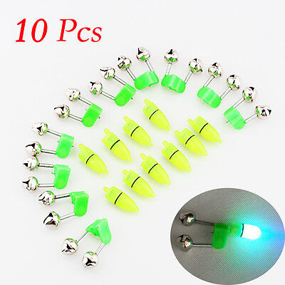 10x Rod Tip Clamp Fishing Pole Fish Bite Lure Alarm Alert Twin Bell Ring Clip BD