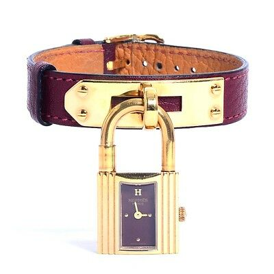 Authentic HERMES leather Kelly watch Z stamp Watches