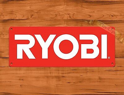 "TIN-UPS TIN SIGN ""Ryobi Red"" Tools Garage Advertisement Wall Decor"