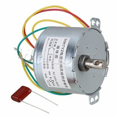 AC220V Metal And Plastic 50KTYZ 1.5RPM Silver Gear Synchronous Electric Motor