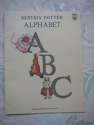 Beatrix Potter Alphabet Cross Stitch Chart Pattern Booklet Jeanne Bowers