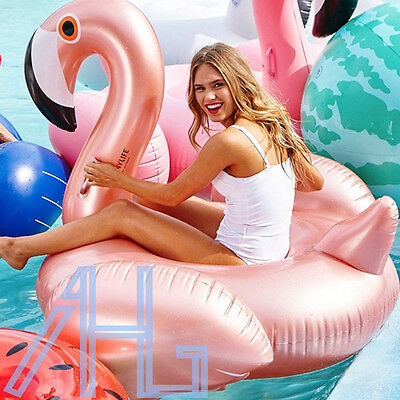 New Giant Inflatable Rideable Flamingo Float Swim Ring Summer Swimming Pool Fun