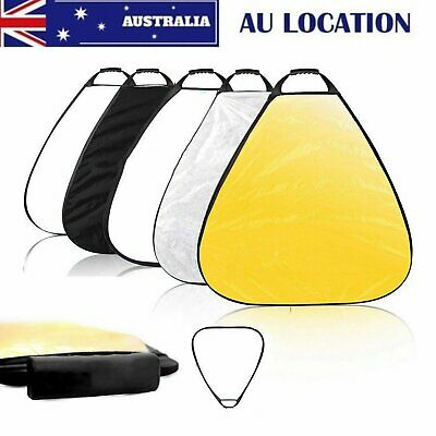 AU STOCK 80cm 5in1 Triangle Reflector Disc Collapsible For Photography Handheld