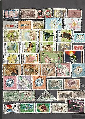 Africa Mixture, 45 Stamps All Different, Used