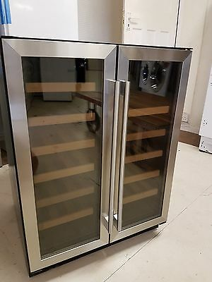 CDA FWC623SS 60cm Free Standing Under Counter Wine Cooler Steel 2 Year Warranty