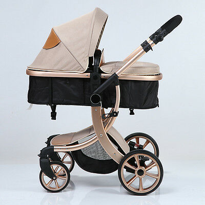 Baby Stroller 3 in 1 Folding Carriage Infant Travel Pram Baby Pushchair 5 Colors