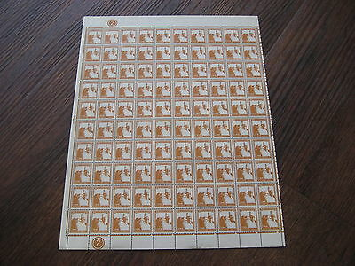 Palestine Stamps Scarce Sheet 100  Sg93 1927 5M Orange