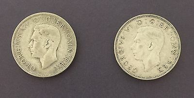 King George V1 1944 - 2 x Two Shillings - 2 Coins