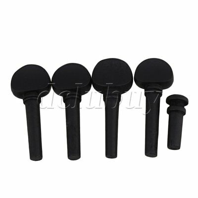 String Instrument Part Ebony Violin Tuning Pegs Endpin 1/2 Black