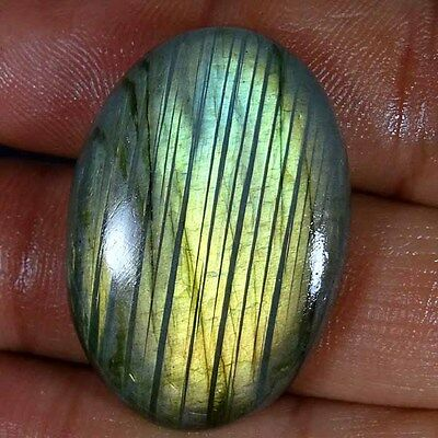 82.80Cts. 100% NATURAL LABRADORITE FLASH OVAL CABOCHON AMAZING! LOOSE GEMSTONES