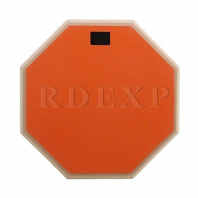 305mm x 28mm Portable Rubber Wood 2-Sided Practice Pad Orange