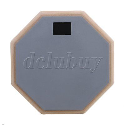 Gray 8 inch Wooden Dumb Drum Soft Rubber Double Side Practice Pad Parts