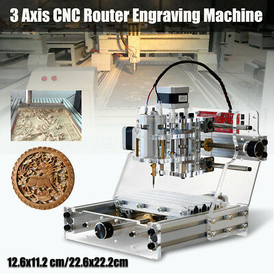 2-Type 3 Axis Engraver CNC Engraving Router Carving Milling Machine Wood Cutter