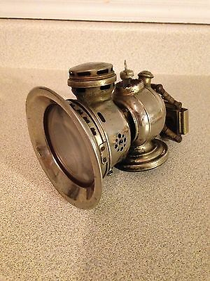 Rare Early Antique Powell And Hunmer Revenge Birmingham Carbide Bicycle Lamp