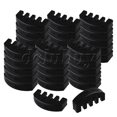 50 x Black Rubber 4/4 Size Violin 5 Prong Practice Mute for Volume Control