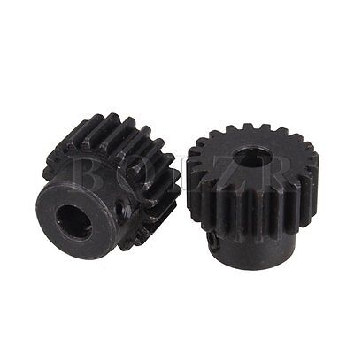 2 pcs 20 Teeth Steel 6.35mm Hole Diameter Motor Metal Gear Wheel For Hardware