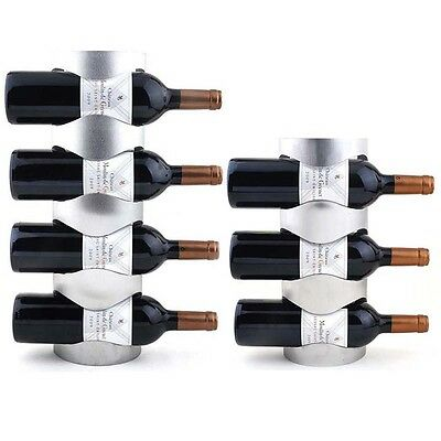 Stainless Steel 3 or 4 Bottles Wine Rack Wall Mounting Bar Kitchen Holder Tool
