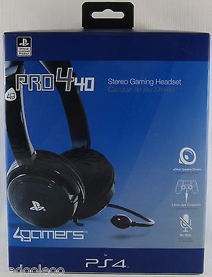 PlayStation 4 Vita Stereo Gaming Headset - PRO4-40 Black - Officially Licensed