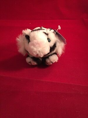 "Puffkins By Swibco Stuffed Plush Animal ""Tasha"" Tiger NEW WITH TAGS Keychain"