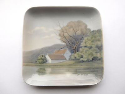 Vintage Bing and Grondahl Square Dish. Manufactured in Denmark 1958-1962