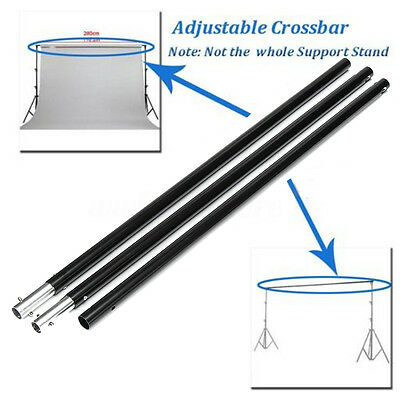 2pcs 6.6FT Adjustable Crossbar Photography 3 Sections Photo Background Support