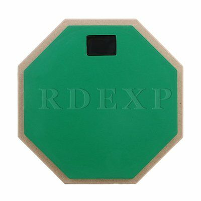 Green 8inch Wooden Dumb Drum Soft Rubber Double Side Practice Pad Parts