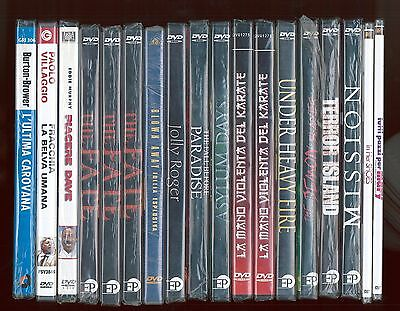Lotto stock di 18 dvd cinema film horror western commedia sigillati