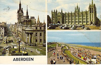 Vintage Old Colour P/c Aberdeen Early 1970's