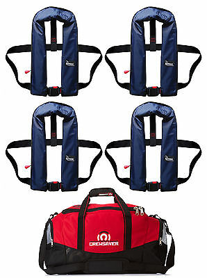 Set of 4 Bluewave Manual 150N Navy Lifejacket - with free kit bag! 2017 Stock!