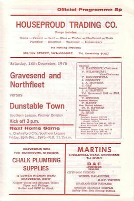 GRAVESEND & NORTHFLEET v DUNSTABLE TOWN 1975/76 SOUTHERN LEAGUE