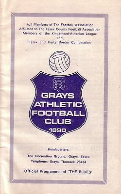 GRAYS ATHLETIC v WEMBLEY 1978/79 FA CUP 1ST QUALIFYING ROUND REPLAY