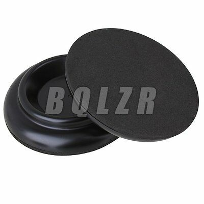 Double Wheel Antiskid Round Plastic Piano Caster Cup Feet Pad Black Pack of 4